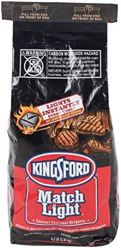 - Kingsford Match Light Charcoal Briquettes, 6.2 Pound
