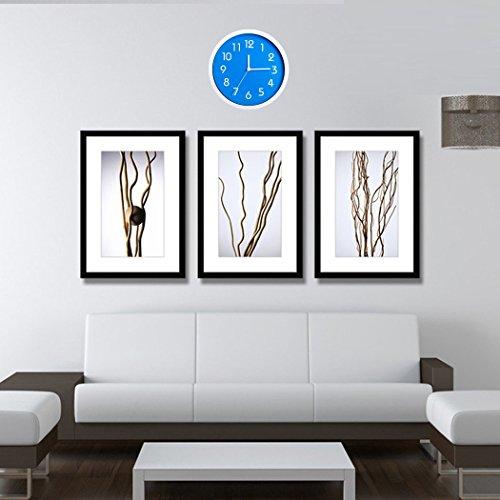 Binwo modern colorful stylish elegant silent non ticking home kitchen living room wall clock 10 - Wanduhr modern weiay ...
