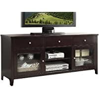 Abbyson Living Aussie Wood TV Console, 64-Inch, Solid Oak