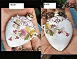 Chatelaine Painted Porcelain Jug Bottle Corked Ornate on 30'' Chain, or Belt, Opens For Secret Treasure, Perfume, Poison, Snuff, Etc.