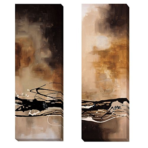 Tobacco and Chocolate I & III by Laurie Maitland 2-pc Custom Oversize Gallery-Wrapped Canvas Giclee Art Set (Ready to Hang) (Custom Chocolate Wrapped)