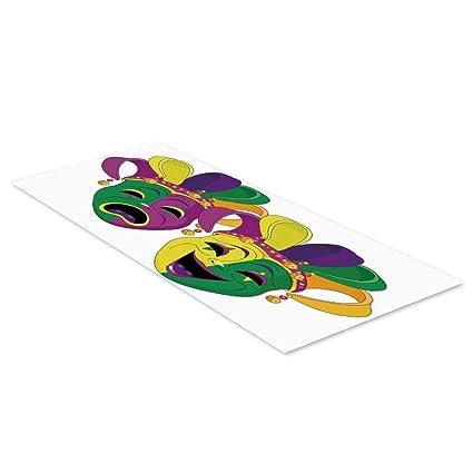 Amazon.com: C COABALLA Mardi Gras Waterproof Floor Sticker ...