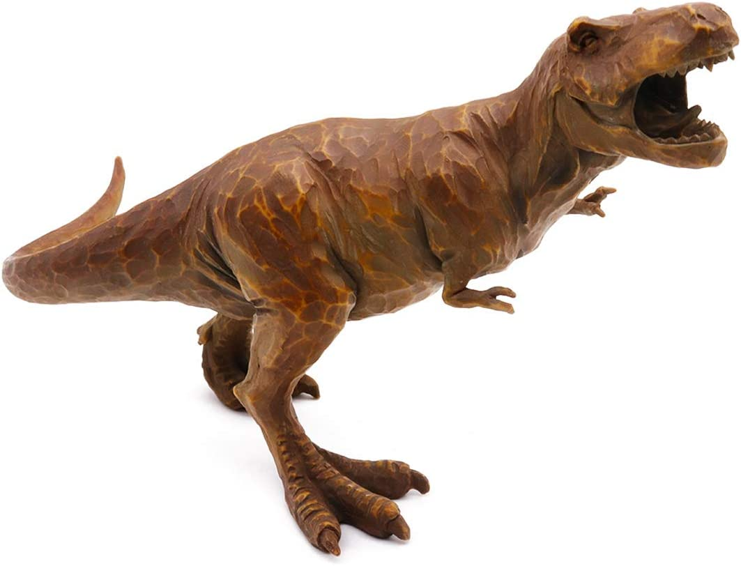 Hand-Painted Resin Dinosaur T-Rex Walking Tyrannosaurus Realistic Sculptured Spectacular Statue Model Kids Boys Toy Miniatures Home Office Decorative Collection Education Gift-for Ages 3 and up