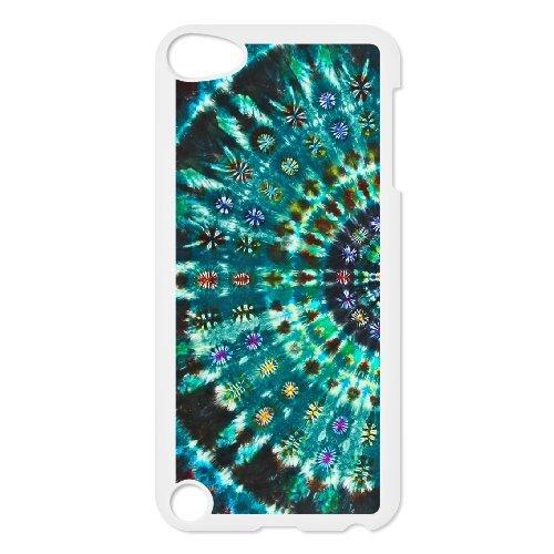 Brady iPod Touch 5 Case,Personalized Custom Retro Tie dye 8,Unique Design Protective TPU Hard Phone Case Cover (Ipod Touch 5 Tie Dye Case)