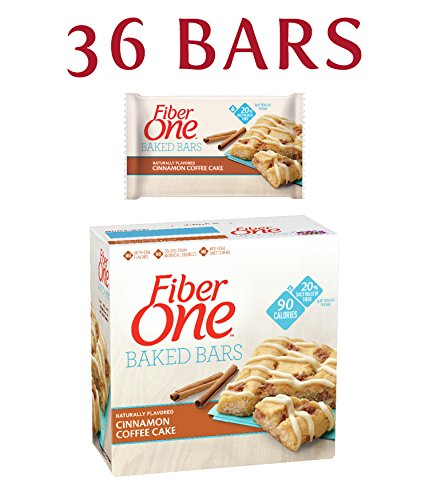 Fiber One 90 Calorie Soft-Baked Bar, Cinnamon Coffee Cake, 6 Fiber Bars, 5.34 oz (Pack of 6) (One Oats Fiber)