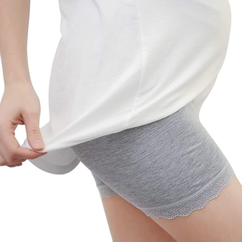 2Pc Dame Pantalon Court Mode /Él/égant Solide Classique Couleur Pantalon Court Shorts De Maternit/é Pantalon De Maternit/é avec Bande Ventrale R/églable Leggings De Maternit/é Fille