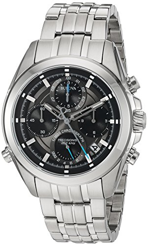 Bulova-Mens-Quartz-Stainless-Steel-Casual-Watch-ColorSilver-Toned-Model-96B260