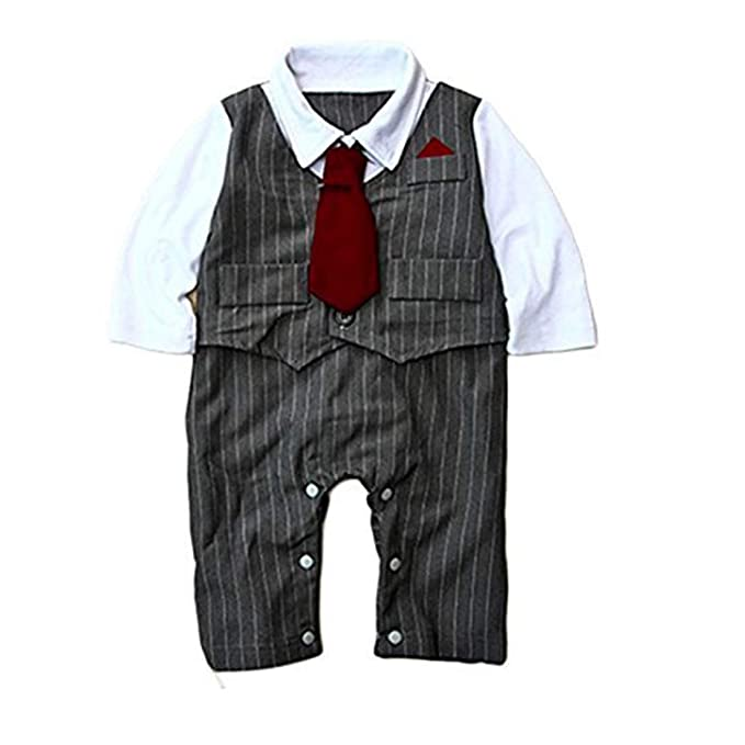 Amazon.com: Baby Boy Pinstriped Formal Fiesta Boda Esmoquin ...