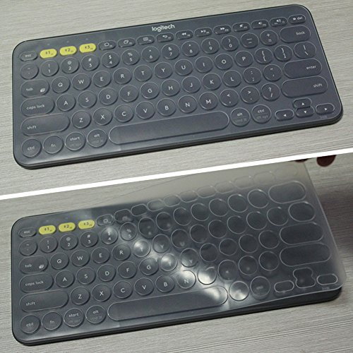 COSMOS Translucent Clear Color Silicone Keyboard Cover Skin Protector for  Logitech K380 Bluetooth Keyboard