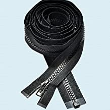 "100\"" Zipper ~ Long Arm Quilting Machine Zipper ~ YKK #5 Molded Plastic ~ Separating - Black (1 Zipper)"