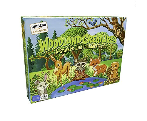 Woodland Creatures Snakes and Ladders Game (Amazon Exclusive) – No Reading Required – Preschool Board Game for Ages 3 and up by Outset Media