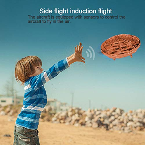 Mini Drones for Kids UFO Drone with Led Light Hands Free Hover Drone Automatic Sensing Obstacle Drone for Children Kids Adults Kid and Boy Toys (3) by Leegoal (Image #4)