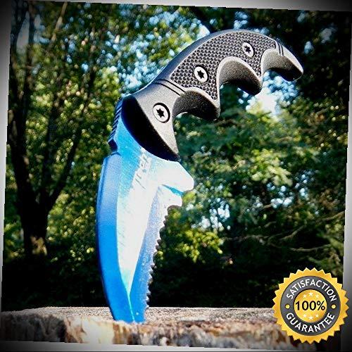 5'' Military Karambit Hunting Skinner Hawkbill Neck Sharp Knife Claw Dagger - Outdoor For Camping Hunting