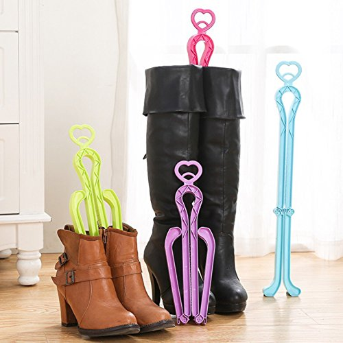 ONEDONE Folding Boot Shaper Stands Boots Knee High Shoes Clip Support Stand