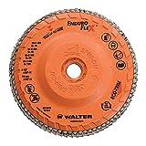 "Walter Enduro-Flex Flap Disc, 4-1/2"" Diameter, 40 Grit, Type 29, 5/8""-11 Thread Size, Trimmable Wood Fiber Backing, Zirconia Alumina (Pack of 10)"
