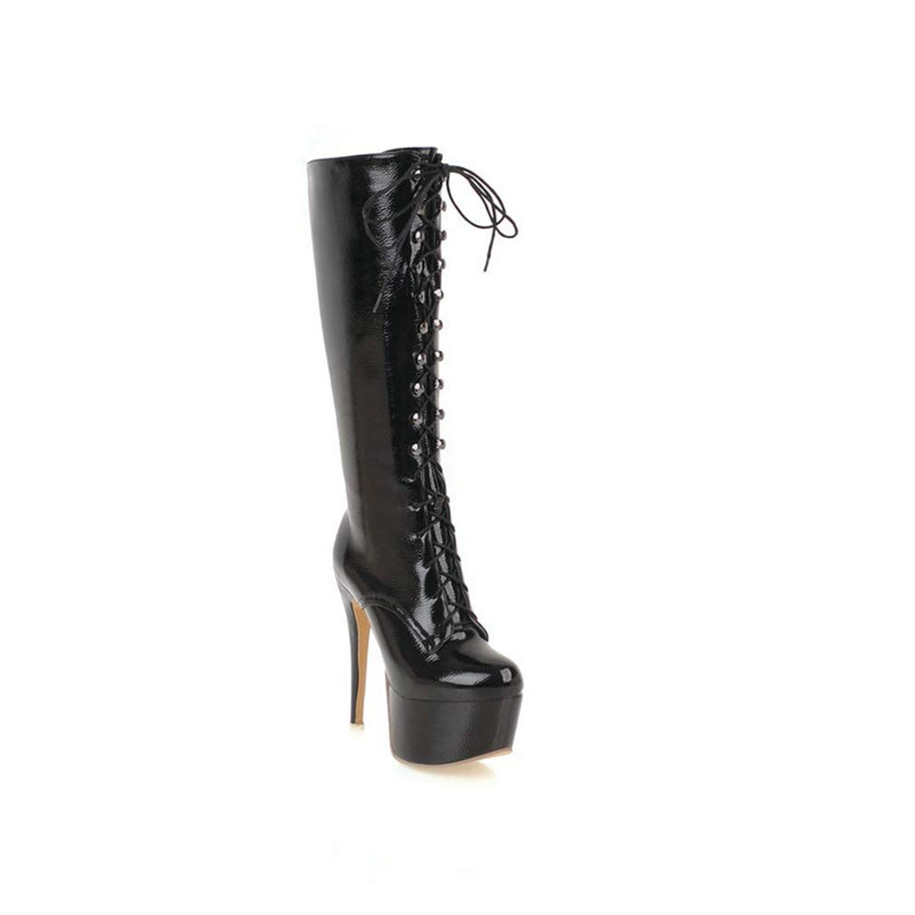 af97ecb20bb Amazon.com | Btrada Women's Knee-high Boots Super Platform Thin High ...