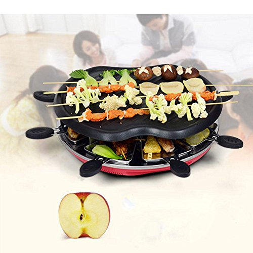 YFK36 * 37 * 13cm elettrica domestica Barbecue Stufa 1300 Potenza antiaderente fumo no fumo 5 altro che applicare