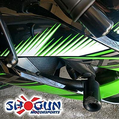 Shogun Kawasaki ZX6R ZX-6R ZX6RR ZX636 2013 2014 2015 2016 2020 2020 Black No Cut Frame Sliders Fits ABS & NON ABS Models - 750-4449 - MADE IN THE USA: Automotive