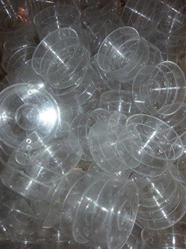 50 Clear Tea Light Cups Natural Light co.