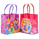 Disney Princess Paradise Reusable Party Favor Goodie Small Gift Bags (12 Bags)