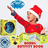 Drones for Kids Hand Controlled - UFO Flying Ball Mini Drone Quad Induction Sensors Hover Star Mini-Drone Toy For Boys Girls Best for Beginners Kids Age 4 5 6 7 8 9 10 11 12 Years Old (1 Drone - Blue)