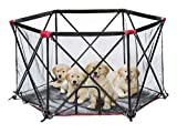 6 panel dog pen - Carlson Pet Products 2700 6-Panel Folding Portable Pet Play Yard, Includes Travel Case, Red