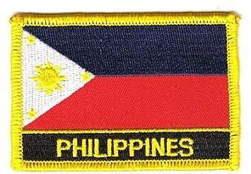 Aufnäher Philippinen Schrift Patch Flagge Fahne