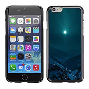 Caucho caso de Shell duro de la cubierta de accesorios de protección BY RAYDREAMMM - Apple Iphone 6 Plus 5.5 - Moon Mountain