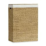 The Classic Brown Lamont Home™ Solei Water Hyacinth Family Laundry Hamper