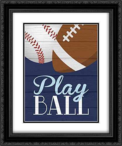 - Play Ball 15x18 Black Ornate Frame and Double Matted Art Print by Robinson, Tamara