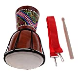 MagiDeal 4 inch Djembe Darbuka African Bongo Hand Drum Dance Drum for Musical Lovers 11.81 x 4.53inch