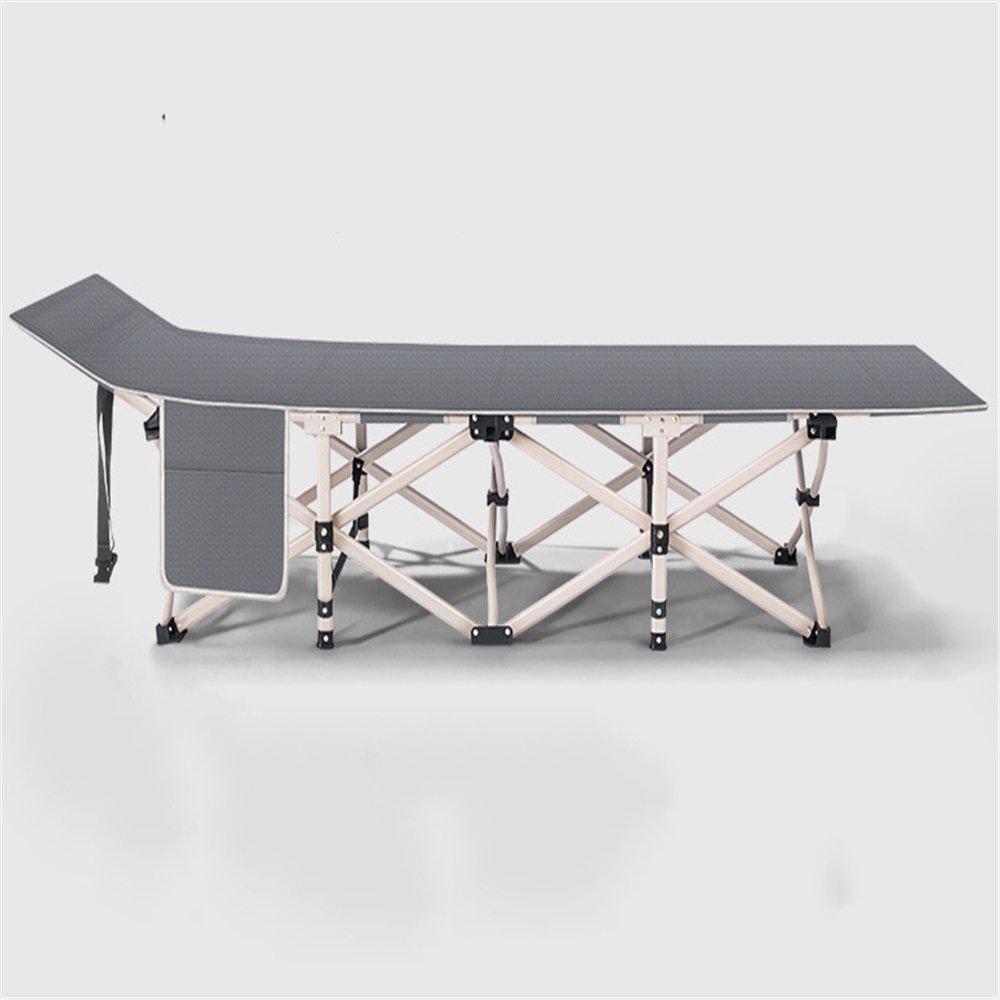 Luqifei Klappbett Camping im Freien Feldbett Feldbett Mittagsschläfchen Klappbett Büro Einfaches Einzelbett Tragbares Mehrzweckklappbett leichte und tragbare Rahmen