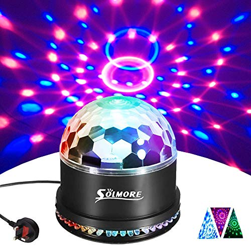 Disco Lights SOLMORE 51 LEDs Disco Ball Light 12W RGB Party DJ Stage Lights