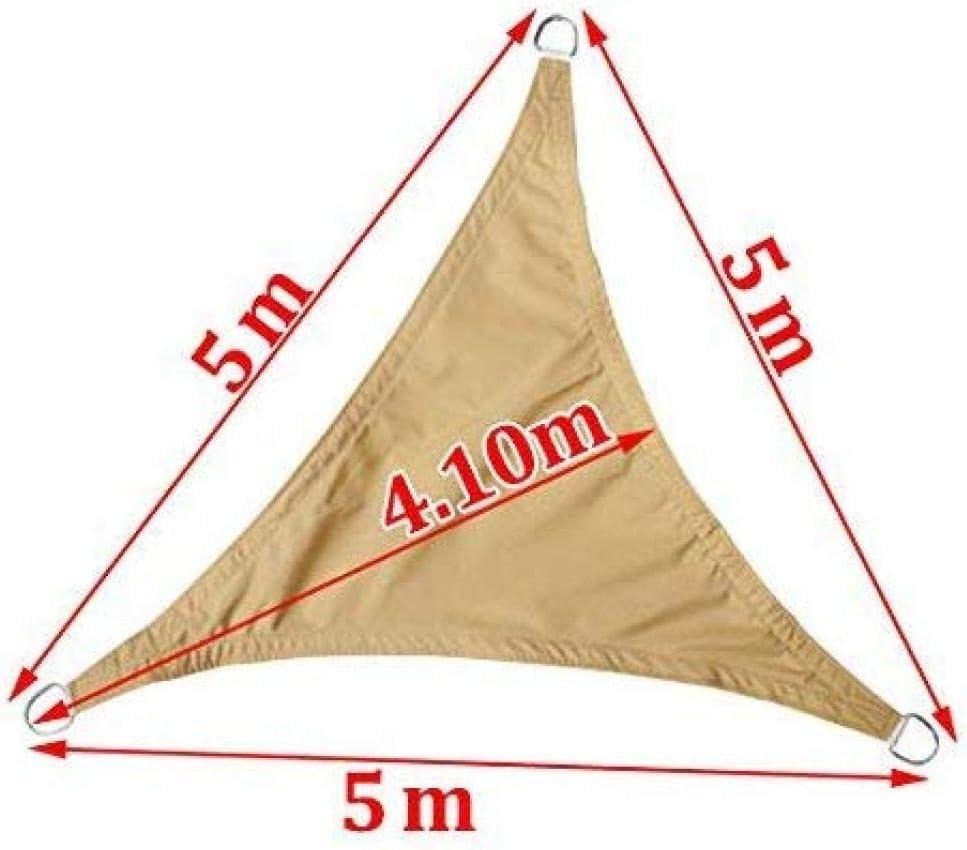 YQFN Sonnensegel Dreieck Uv-Best/ändige Schattensegel Au/ßenterrasse Party Sonnenschutz-2X2X2M/_Orange