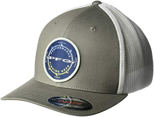- Columbia Men's PFG Mesh Seasonal Ball Cap,Titanium, White,Large/X-Large
