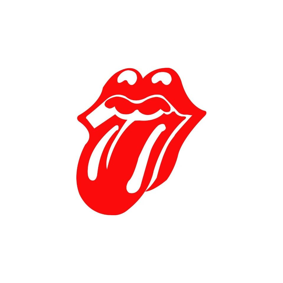 Lips Tounge Rolling Stones Auto Car Sticker Red 8.5X7.5