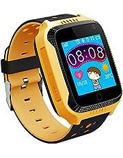 الهاتف الذكي Menstayae للأطفال 1.44 بوصة TFT شاشة اللمس GPS موقع مدمج الكاميرا مصباح الساعة الذكية مع فتحة بطاقة SIM ومراقبة الصوت عن بعد مكالمات SOS إنذار LCMMAINSTAYAEPA4307YCTSA