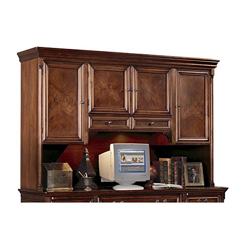 Hutch with Task Light Cobblestone Cherry Dimensions: 74''W x 18.25''D x 47''H Weight: 280 lbs by Martin Furniture