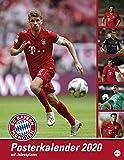 FC Bayern München Posterkalender 2020: Jahresübersicht 2019 mit Spielergeburtstagen