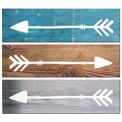 3 Pieces Rustic Wooden Arrows Signs Farmhouse Wall Decor Wooden Arrow Sign Hanging Decor for Home Office Wedding Nursery…