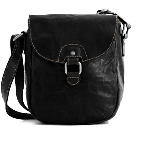 Jack Georges Voyager Horseshoe Crossbody Bag 7838 (BLACK) by Jack Georges