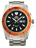 Orient Automatic Dive Watch CEM75004B (Orange Bezel Mako II), Watch Central