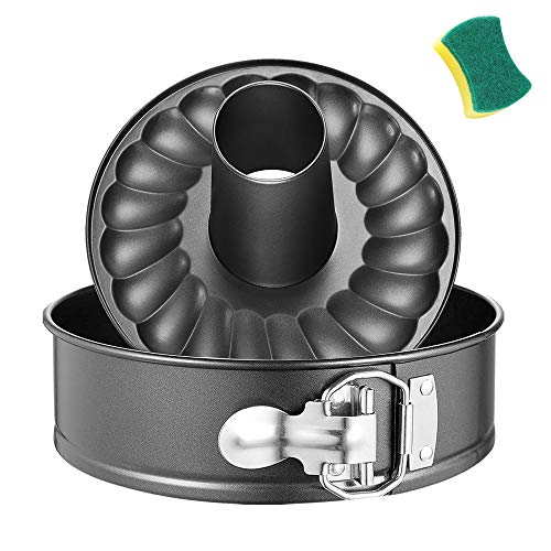 7 Inch Bundt Pan 2-In-1,Leakproof Round Cake Pan,Non-stick Bundt Cake Pan,Springform Pan,Spring Pan,Cheesecake Pan,Cheesecake Pan Springform,Springform Bundt Pan with Removable Bottom for Instant Pot