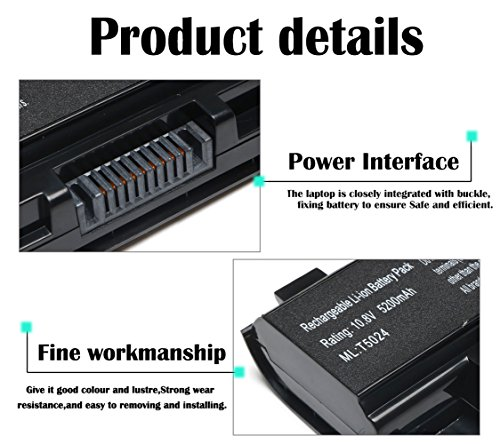New Replacement PA5024U-1BRS Battery for Toshiba Satellite C55 C55-A C55T C55DT C55D C855 C855D L855 L875 P855 P875 S855 S875 Series Battery PA5109U-1BRS PA5026U-1BRS PABAS272-12 Months Warranty by TSKYBEAR (Image #2)