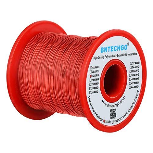 Enamel Magnetic (BNTECHGO 22 AWG Magnet Wire - Enameled Copper Wire - Enameled Magnet Winding Wire - 1.0 lb - 0.0256