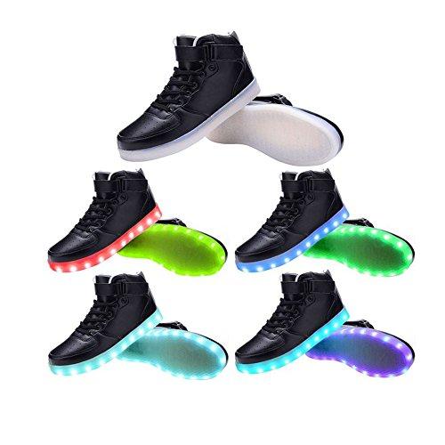 LED dessus USB Sneakers haut Sport clignotantes de Femmes Hommes Chaussures recharge 3STEAM tOaw8Rx0q