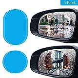 Car Rearview Mirror Film,Myguru Mirror Protective Nano Film with Anti Fog Film Anti-glare Anti Mist Anti-scratch Waterproof & Rainproof Window Clear Glass Film for All Universal Vehicles Cars SUVs (4 Pack)