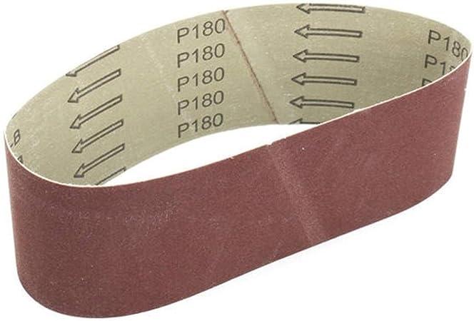 Courroies de ponçage 80x Grand choix GRIT 10 x 330 mm pour ponceuse à