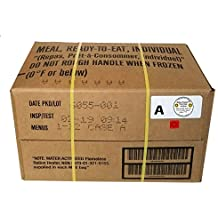 MRE 2019 Inspection Date Case, 12 Meals with 2019 Inspection Date, 2016 Pack Date. Military Surplus Meal Ready to Eat.
