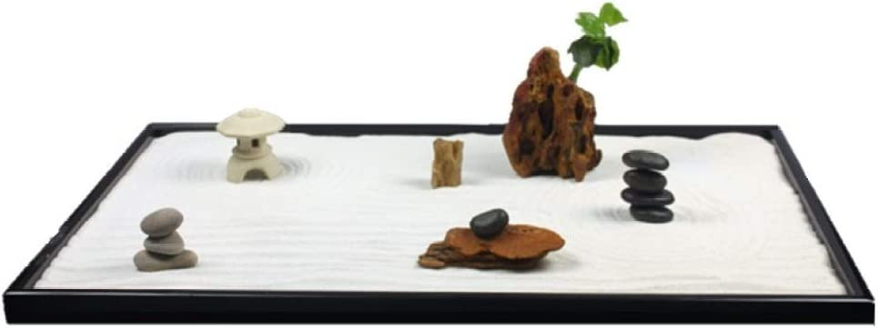 Laogg Jardin Zen Montaña Seca Arena Arena Mesa Meditación Adornos De Feng Shui Sala De Estar De Estilo Chino, Estudio De Decoración.: Amazon.es: Hogar